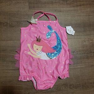 Mudpie 5t swimsuit mermaid new